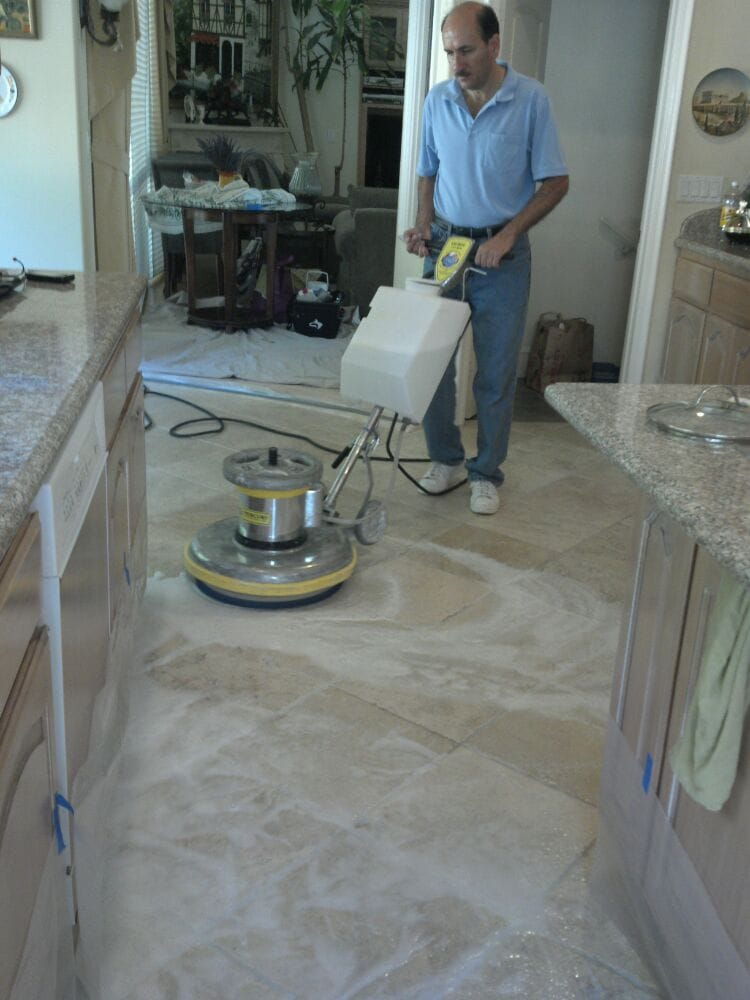 Brentwood Travertine Floors Cleaned
