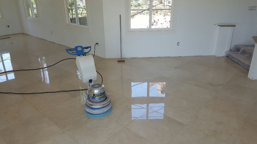 Polishing Marble Stone Halajian Marble Restoration in Los Angeles